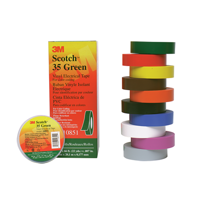 3m Scotch 35 Electrical Tape Coloured Pvc Insulation